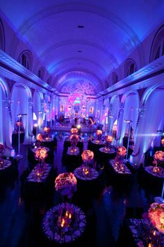 another example of how mood lighting does wonders! except ours will be purple rather than blue :)