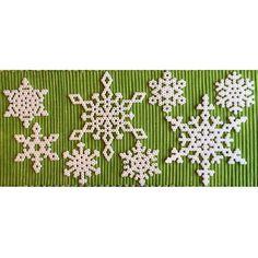 Snowflakes hama beads by petrawettero