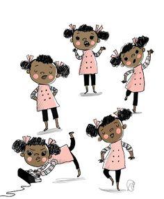 People Illustration, Children's Book Illustration, Character Illustration, Edition Jeunesse, Afro, Doodle Characters, Animation, Design Studio, Character Design Inspiration