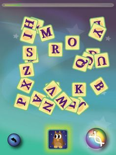 Lærii er gratis, men der er flere spil i appen, som kan tilkøbes. Billedet viser det spil, der er  gratis. Man får nogle bogstaver og skal finde begyndelsesbogstavet til biilledet.