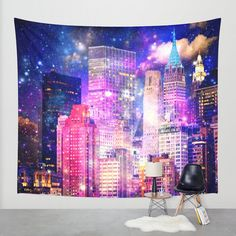 New York tapestry/New York wall by haroulitasDesign on Etsy