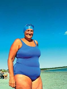 Pat Gallant-Charette - oldest woman to swim the Catalina Channel and the Tsugaru Strait, and proof that age and weight are irrelevant to health and success. Old Folks, Ageless Beauty, Body Love, Aging Gracefully, Body Image, Full Figured, American Women, Getting Old, Old Women