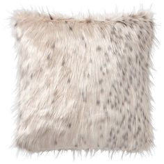 "PB Teen Faux-Fur Pillow Cover, 18 x 18"", Snow Cat ($30) ❤ liked on Polyvore featuring home, home decor, throw pillows, cat throw pillow, cat home decor, faux fur throw pillow, plush throw pillows and pbteen"