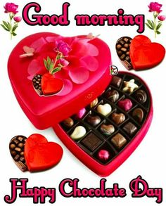 Chocolate Day Images For Whatsapp Good Morning Images, Good Morning Clips, Good Morning Happy, Chocolate Day Images Hd, Valentine Day Week, Love Wallpapers Romantic, Sandra Boynton, World's Best Food, Image Hd
