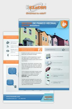 """Diseño de papelería para la firma """"Hexacom"""""""