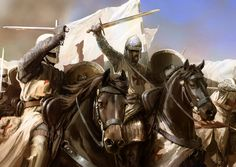 Templar charge at the Battle of Montgisard