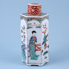 Chinese Export Porcelain Hexagonal Bottle & Cover, c. 1710 China : The British Antique Dealers' Association