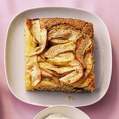 Apfelkuchen mit Vanille-Dip Rezept   Küchengötter
