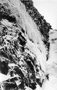 Doug Scott below The Smear (V) on Sgurr a'Mhadaidh just before the first ascent in 1979. The route was not climbed again for 34 years until Andy Huntington and Mike Lates repeated it this April. Scott later wrote that this was his hardest new route on ice. (Photo Jim Duff)