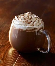 Starbucks Classic skinny hot chocolate, ok this one probably isn't very skinny. Frappuccino, Chocolate Coffee, I Love Chocolate, Chocolate Sprinkles, Christmas Chocolate, Starbucks Menu, Starbucks Coffee, Homemade Hot Chocolate, Food Fantasy