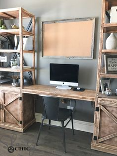 Hey there! Join us on Instagram and Pinterest to keep up with our most recent projects and sneak peeks! I'm back with the free plans for the floating desk that goes between the office storage towers that I shared with you, last time I was here If you missed the plans for the Storage {...Read More...}