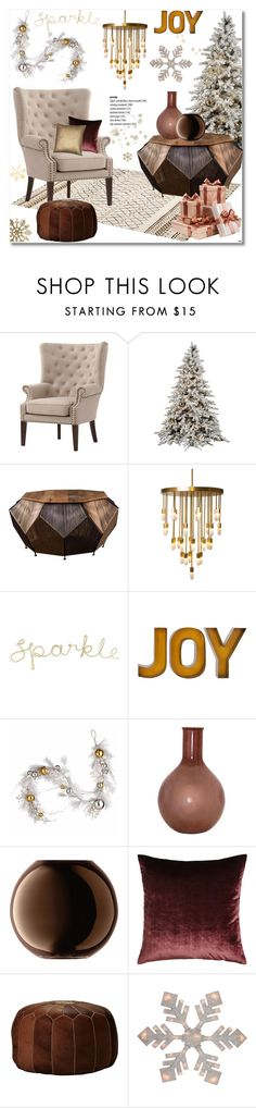 """""""Sparkle-Joy!"""" by helenevlacho ❤ liked on Polyvore featuring interior, interiors, interior design, home, home decor, interior decorating, Home Decorators Collection, Emporium Home, National Tree Company and Casarialto"""