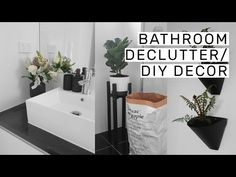 Bathroom Decluttering + DIY Decor // Rachel Aust - YouTube