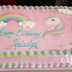 Cake nature fast and easy - Clean Eating Snacks Birthday Sheet Cakes, Birthday Cake Girls, Unicorn Birthday Parties, 10th Birthday, Birthday Party Decorations, Rainbow Birthday, Unicorn Rainbow Cake, Party Cakes, First Birthdays