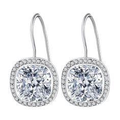 Cercei Nahla Jewels argint cu zirconia albă