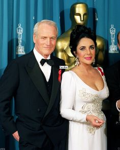 Liz Taylor and Paul Newman, the two most gorgeous pairs of eyes to look upon Hollywood.