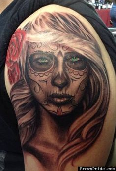 day of the dead tattoos Chicano, Inked Magazine, Free Day, Matching Tattoos, Day Of The Dead, Tattoo Designs, Tattoo Ideas, Tattoos For Guys, Badass