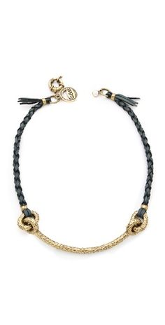 Hammered Archer Braided Leather Necklace
