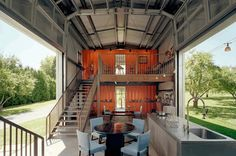 While the URL to the article that contained this image is no longer valid, the image itself still shows to open flow of light and air that I want in our container home.