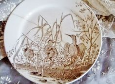 . . . Cabin & Cottage : An Old Transferware Plate & A Few Handmade Stitches in Time.