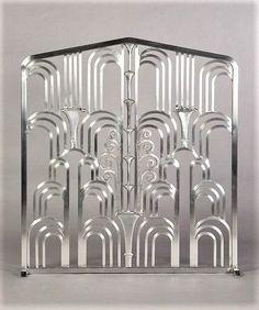 Art Deco 1930s Fountain Style Fire Screen designed by Edgar Brandt Art Deco Furniture, Furniture Layout, Furniture Arrangement, Metal Furniture, Furniture Design, Victorian Furniture, Furniture Logo, Urban Furniture, Street Furniture