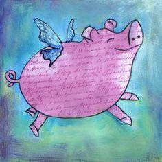 Flying Pig by jasperandblue on Etsy