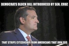 Ted Cruz STAND against ISIS---REMEMBER THIS when DEMS cause another 911 or PARIS here in America