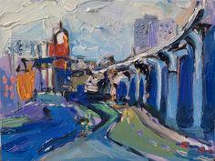 Richard Claremont #Art in #Korea - Blue Daegu - #Oil #Paintings for Sale