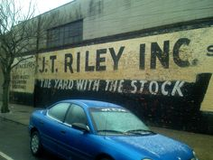 Riley – The Yard with the Stock « Ghost Sign Project Terrazzo, Design Projects, Signage, Typography, Yard, Building, Letterpress, Patio, Letterpress Printing