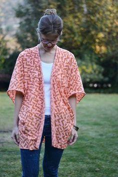 DIY: Cómo hacer un saquito tipo kimono en 5 pasos / Actitud y alegría.