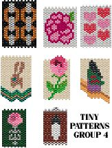 TINY PATTERNS - GROUP 4 - NECKLACES, AMULETS, DOLL PURSES by Suzanne Cooper at Bead-Patterns.com