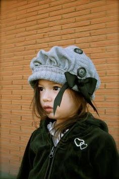 This hat is made out of an old from sweater. So cute :)