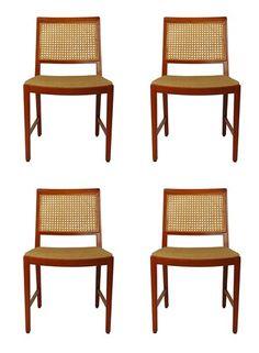 Set of 4 vintage Swedish design chairs - $650.