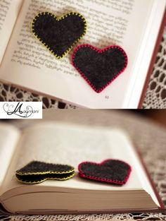 #felt #bookmark #heart #shape #kid #love #book #read #booklover #handmade #madeingeorgia #georgia #tbilisi #maqmani