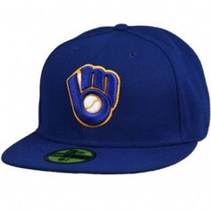5c3bd6b471f Milwaukee Brewers Alternate Performance 59Fifty Fitted Hat New Era 59fifty