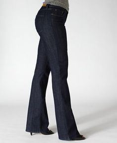Levi's Bold Curve ID jeans. They fit my booty & waist both (w/ out looking like they've been shrink-wrapped onto me) & the waist doesn't gap on me. Love these!