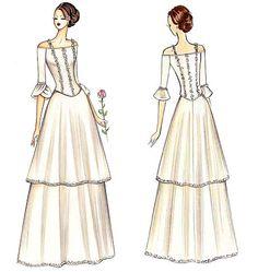 minus the flounce ;)  | FS574 | Marfy Dress | Bridal | Kwik Sew Patterns