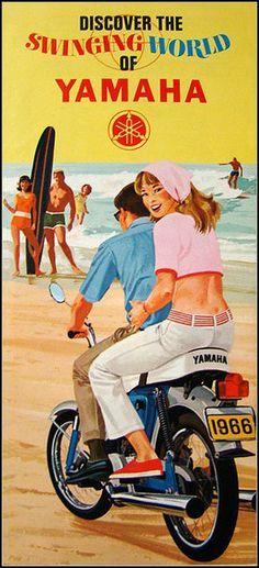 Swinging on a Yamaha motorcycle