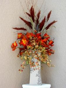 TUSCAN SILK FLOWER ARRANGEMENT