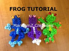 FROG. Designed and loomed by Marlene Barressii Crafts. Click photo for the MarloomZ Creations YouTube tutorial. (Rainbow Loom Obsession FB page)