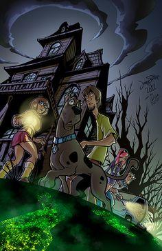 on Behance Cartoon Crossovers, Cartoon Memes, Cartoons, Wall Art Wallpaper, Cartoon Wallpaper, Be Cool Scooby Doo, Desenhos Hanna Barbera, Scooby Doo Memes, Scooby Doo Mystery Incorporated