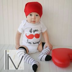 Valentine's Day baby and toddler boy outfits do not get any cuter than this!