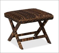 Seagrass Stool   Pottery Barn...this would go quite adorably with the bamboo blinds we have, now wouldn't it?