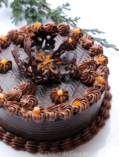 Sweet Desserts, Easy Desserts, Delicious Desserts, Chocolat Cake, Cookie Recipes, Dessert Recipes, Romanian Desserts, Cooking Chocolate, Sweet Pie