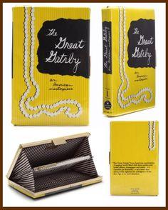 Kate Spade The Great Gatsby Book Clutch Book Purse, Book Clutch, Clutch Purse, The Great Gatsby Book, The Book, F Scott Fitzgerald Books, Kate Spade Outlet, Kate Spade Clutch, Mini Handbags