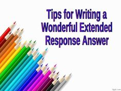 This PowerPoint Walks Students Through 10 Tips For Writing Extended Response  Answers. Great For Class