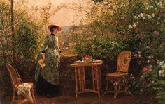 Victor-Gabriel Gilbert (French, 1847 - 1933)  Madame Firmin-Girard in the Garden