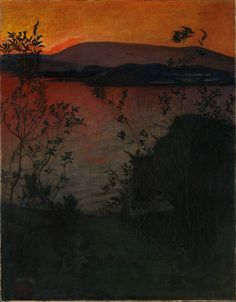 Evening Glow by Harald Oskar Sohlberg Handmade oil painting reproduction on canvas for sale,We can offer Framed art,Wall Art,Gallery Wrap and Stretched Canvas,Choose from multiple sizes and frames at discount price. Nocturne, Google Art Project, Photo D Art, Oil Painting Reproductions, Hanging Pictures, Art Google, Landscape Paintings, Canvas Paintings, Framed Art
