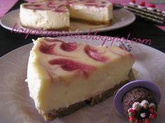Hoy cocina Vivi: New York cheesecake con espirales de fresa