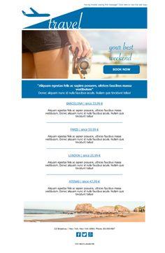 Todos los viajes al alcance de tus clientes. En Mailify disponemos de plantillas newsletters para que envíes de forma sencilla todos los destinos paradisíacos.